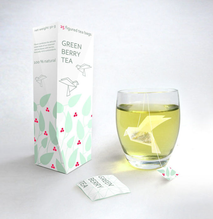 Bolsa de té en forma de