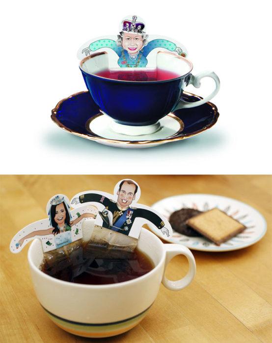 bolsas de té de la realeza