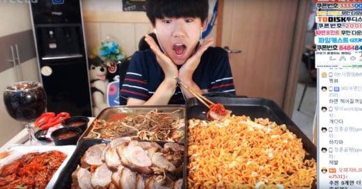 A estos coreanos les pagan por comer frente a una webcam