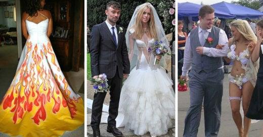 Los vestidos de novia mas feos de la historia de las bodas