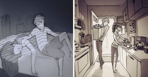 Curtis Wiklund ilustra 365 días con su esposa