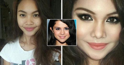 Letisha Velasco la chica que con sus impresionantes habilidades de maquillaje imitó el rostro de celebridades