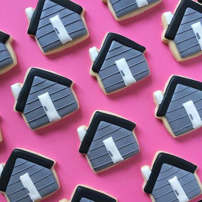 galletas en forma de casas