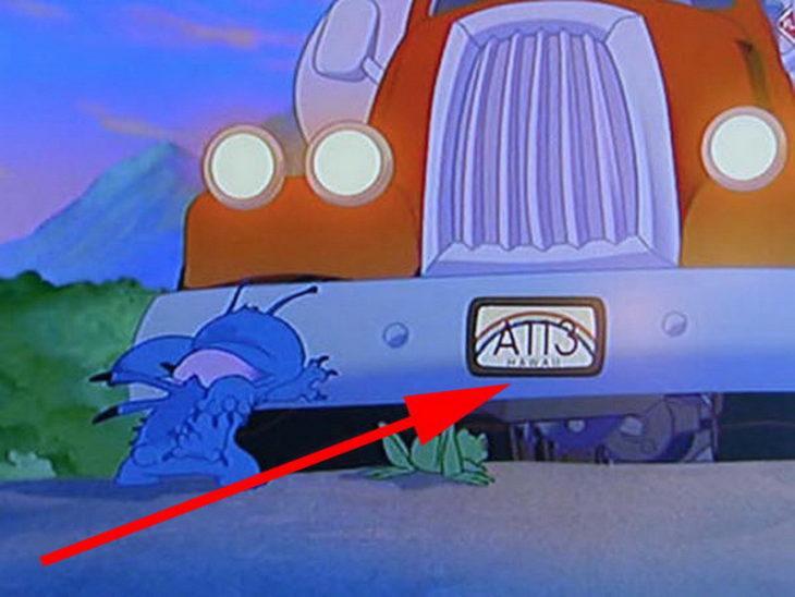 Disney, en Lilo & Stich aparece el código A113 en una placa de un carro de Hawaii