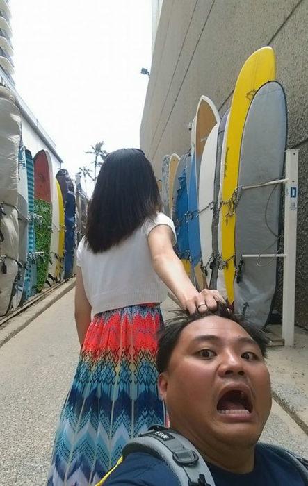 PAREJA VISTANDO HAWAII