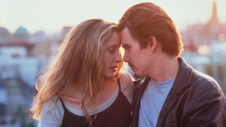 escena de los protagonistas de la película antes del amanecer