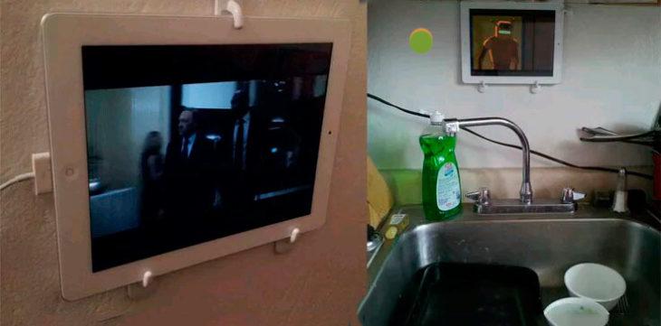 coloca tu ipad en la cocina o en cualquier lugar