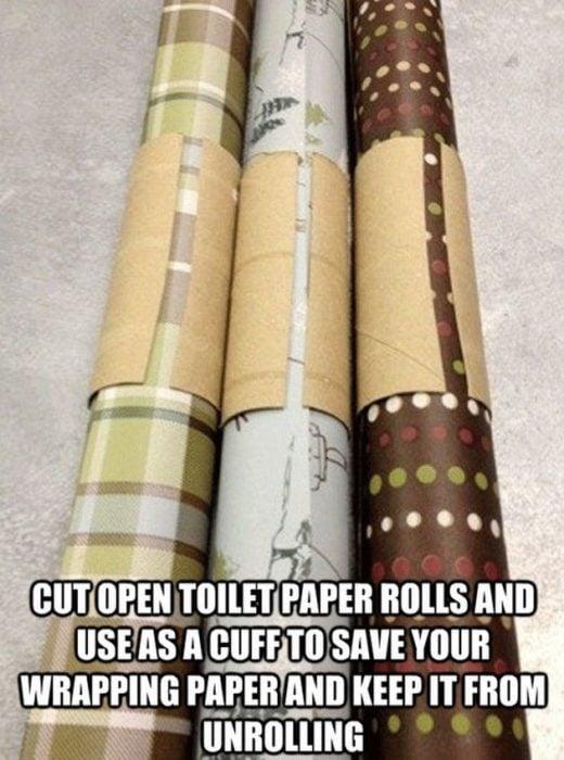 Cómo mantener enredados los papeles de regalo