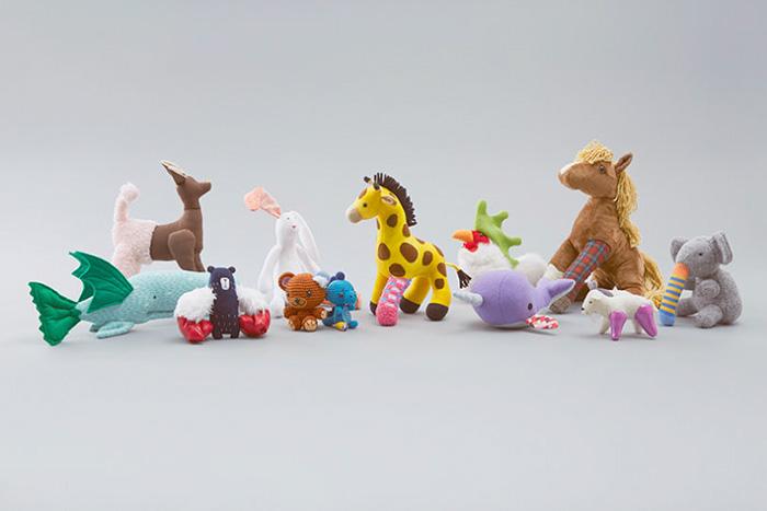 juguetes reconstruidos por la campaña de concientización sobre el transplante de órganos