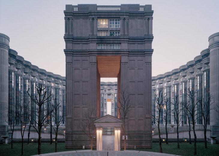 diseños de los muros acanterados de la ciudad parisina