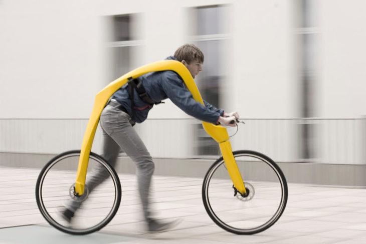 bicicleta que funciona con los pies