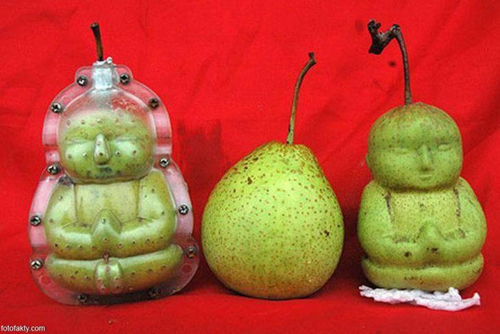 Moldes para convertir las peras en forma de Buda