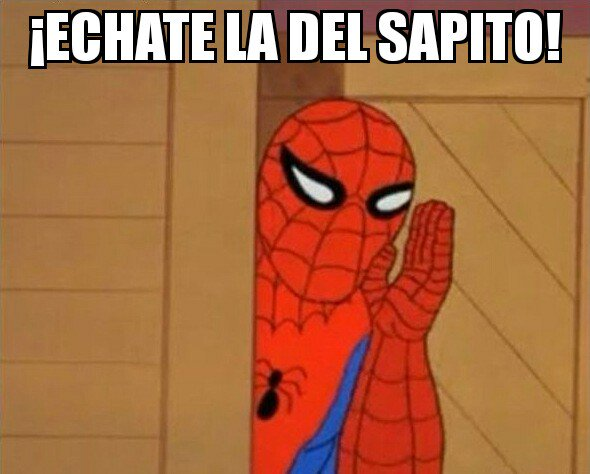 meme a lady sapito del hombre araña gritando echate la del sapito