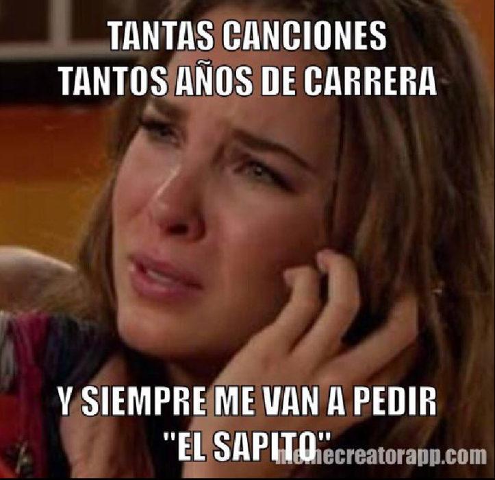 belinda llorando meme a Lady Sapito