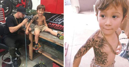Les hacen tatuajes a niños enfermos para que se recuperen
