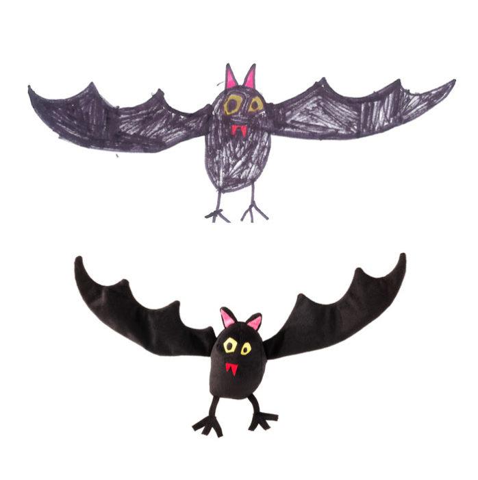 murciélago pintado por un niño