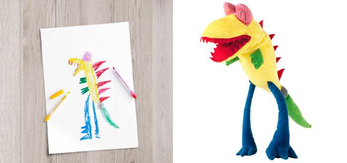 monstruo extraño diseñado por un niñp