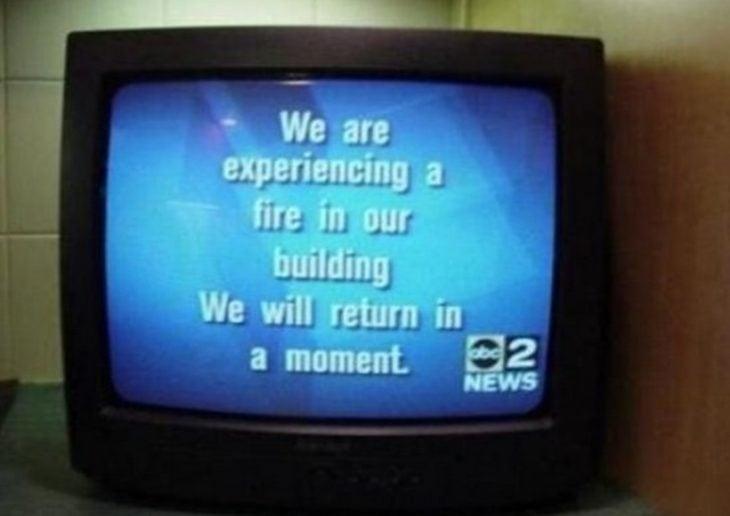 mensaje drástico de una televisora
