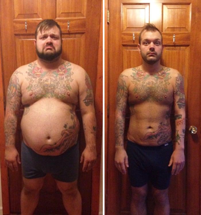 perdió 50 libras ayer y luego de las fotos