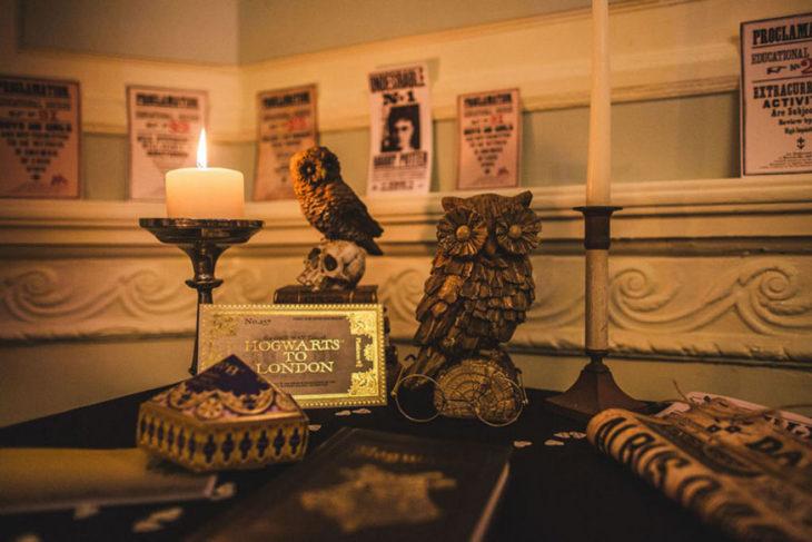detalles en la boda al estilo de Harry Potter en Inglaterra