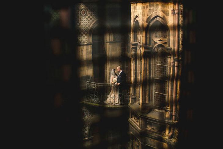 Foto de la pareja celebró su boda al estilo Harry Potter en cada detalle
