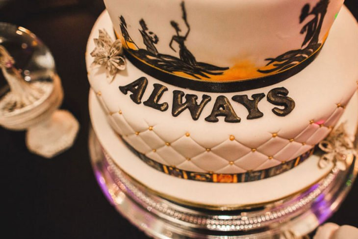 Pastel Always de la boda al estilo Harry Potter