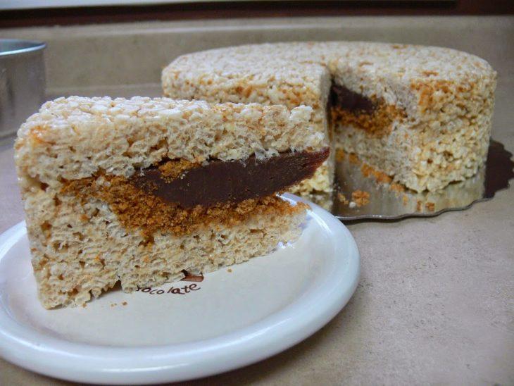 PieCaken, pastel relleno de pie de chocolate