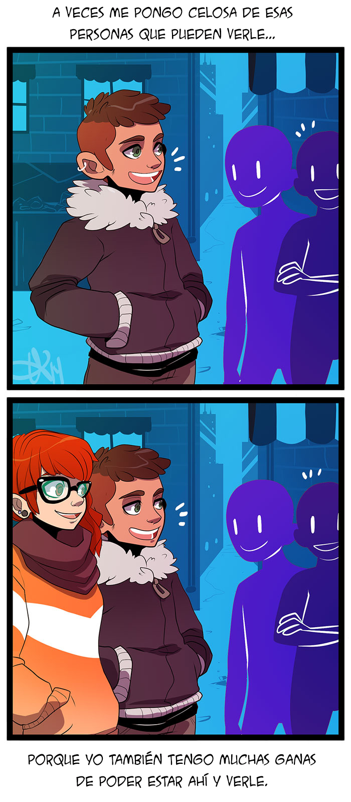 Ilustraciones describen a la perfección relación a distancia