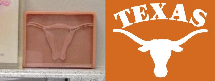 Hombre piensa que una imagen del aparato reproductor femenino es una imagen del equipo de Texas