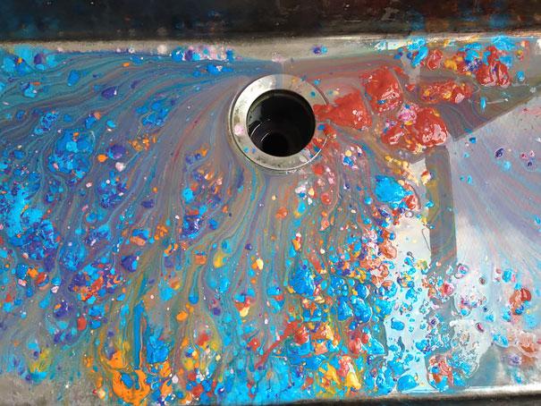 pintura en lavadero