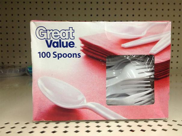 tenedores de plástico mal etiquetados
