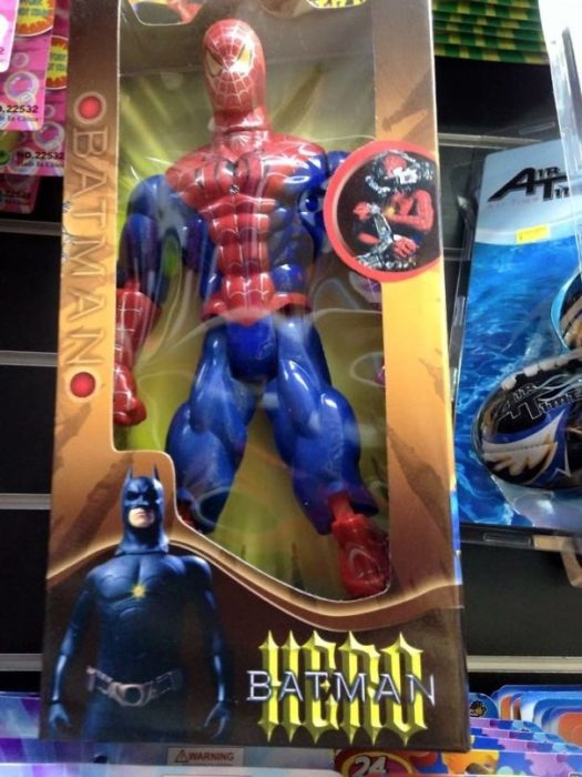 Spiderman en empaque de batman
