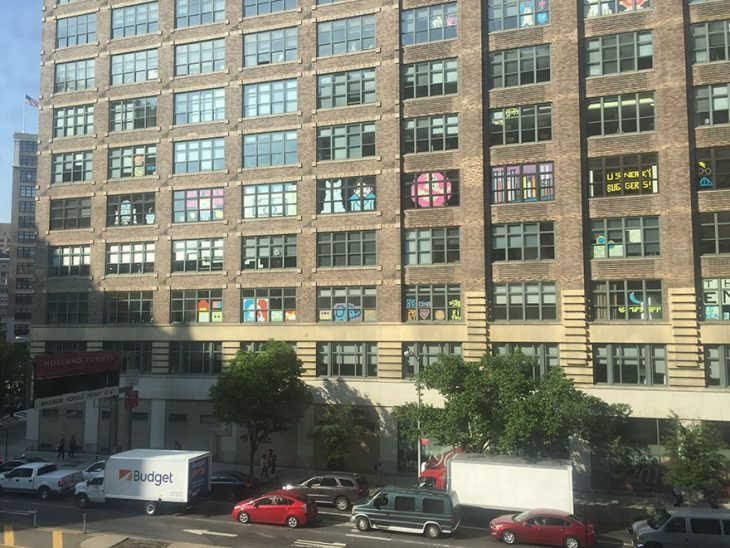 ventanas con post it