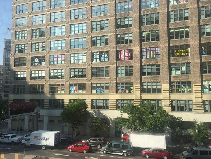 ventanas con post it