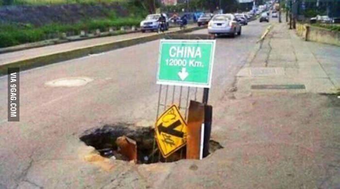 Construyendo un hoyo hacia China