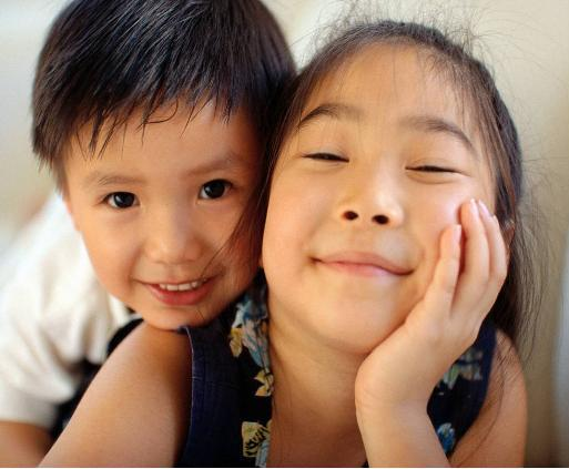 Imagen de dos niños chinos
