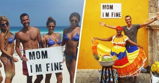 Hombre recorre el mundo y le manda mensaje a su mamá por instagram