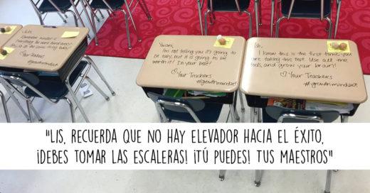 Maestro le escribe mensajes motivacionales a sus alumnos