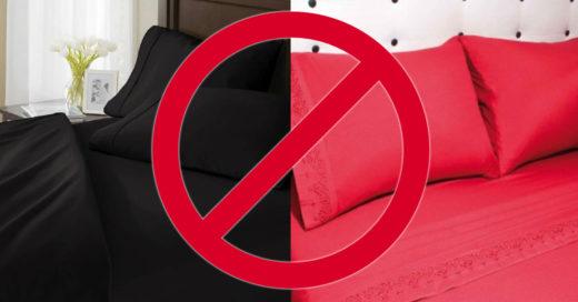 Por que no es bueno usar sabanas negras o rojas