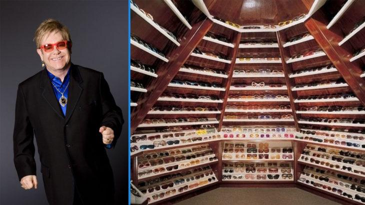 Toda una sección para los lentes de Elton John