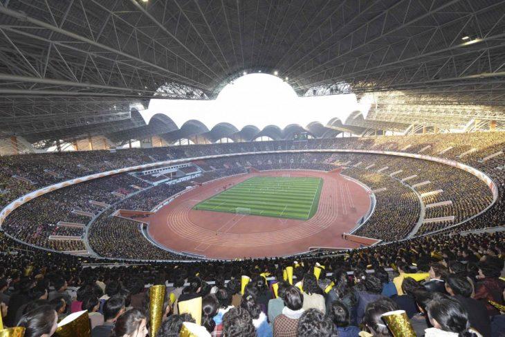 estadio norcoreano por dentro