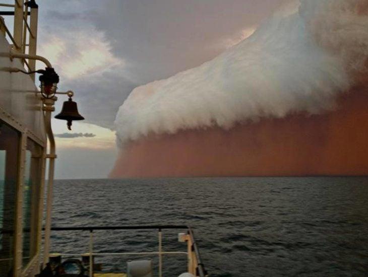 Imagen que muestra una tormenta de arena en Australia