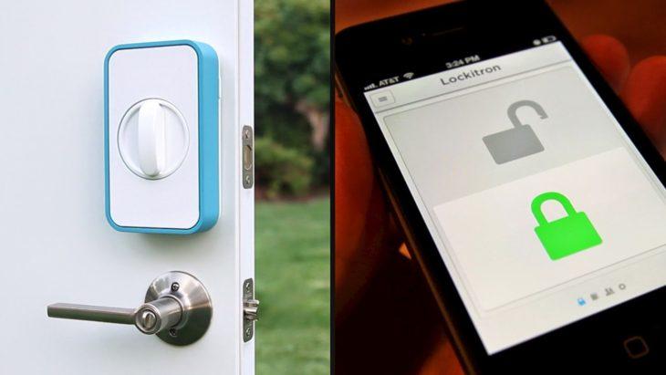 Cerradura que, por medio de una aplicación en tu celular, puedes cerrar a distancia desde tu celular