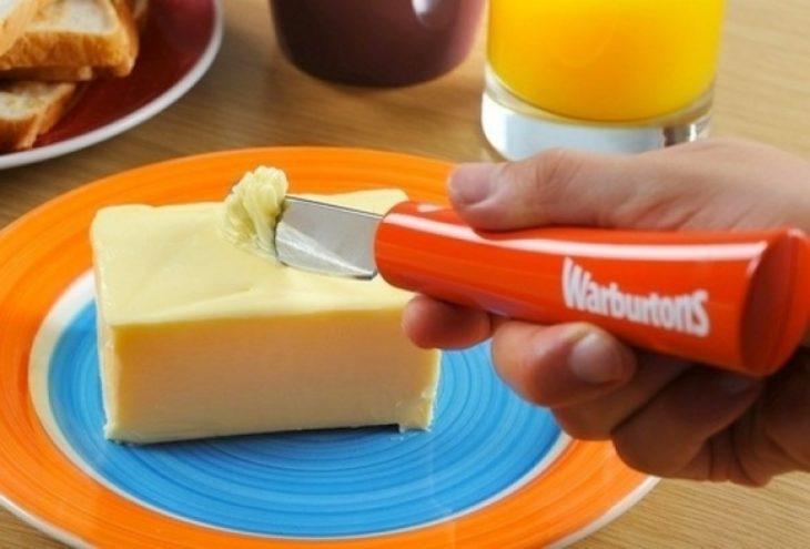 Cuchillo caliente para untar cosas frías