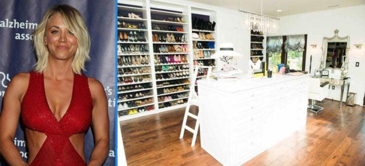 Closet lleno de zapatos de Kaley Couco