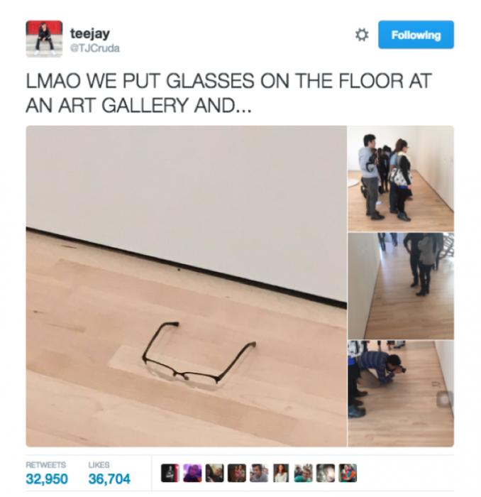 Adolescente se hace viral luego de compartir en Twitter imágenes de unos lentes en el museo de arte moderno