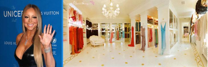Precioso vestidor de Mariah Carey