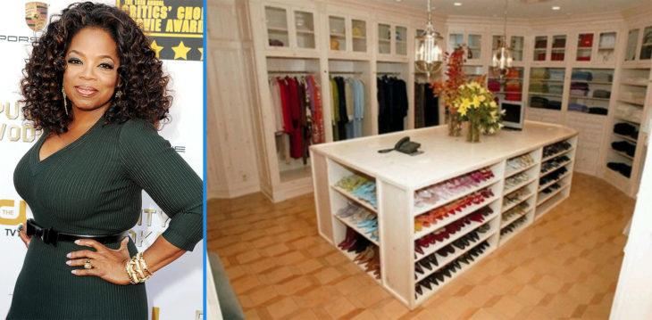 Organizado vestidor de Oprah