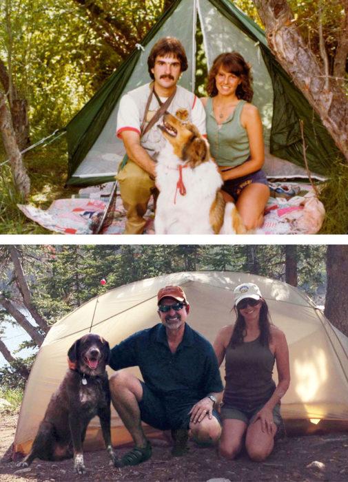 Matrimonio en campamento en 1979, campamento ahora
