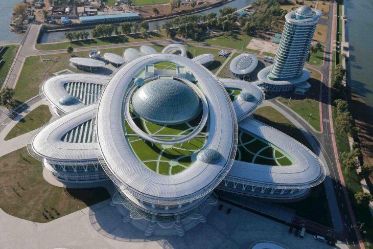 edificio de investicaciones científicas de Corea del Norte